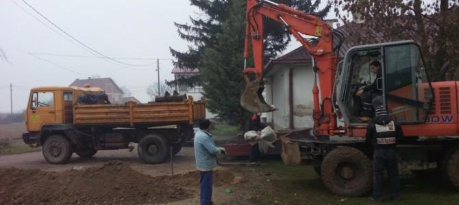 """Се гради фекална канализација во ООУ """"Герас Цунев"""" во Просениково"""